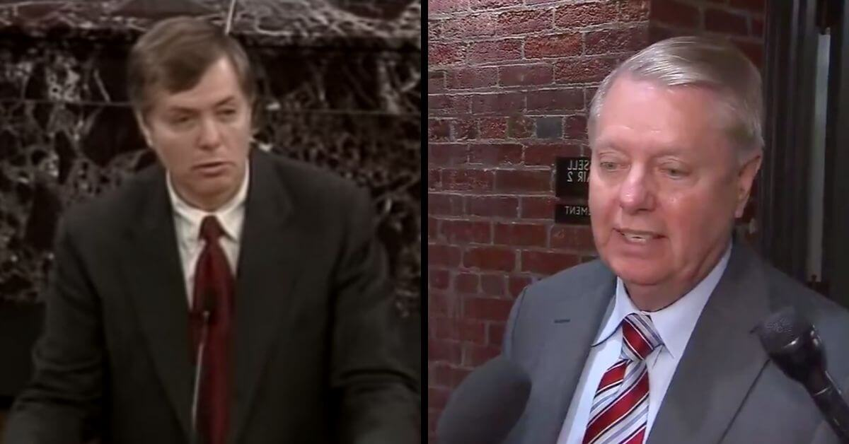 """Lindsey Graham once said impeachment was about """"cleansing the office"""". Now he doesn't care"""