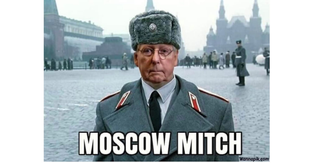 Moscow Mitch screws Kentucky military families in favor of Trump's border wall vanity project 1