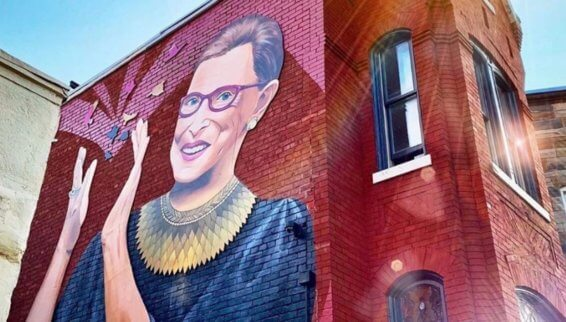 Stunning new mural of Ruth Bader Ginsburg pops up in Washington - Front  Page Live