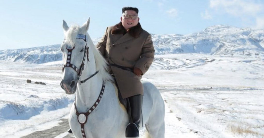 Kim Jong Un does photo shoot on horseback and vows to overcome US sanctions