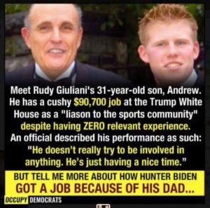 'A nepotism job': Rudy Giuliani's son gets $90,000 at White House as 'Sports Liaison' 1