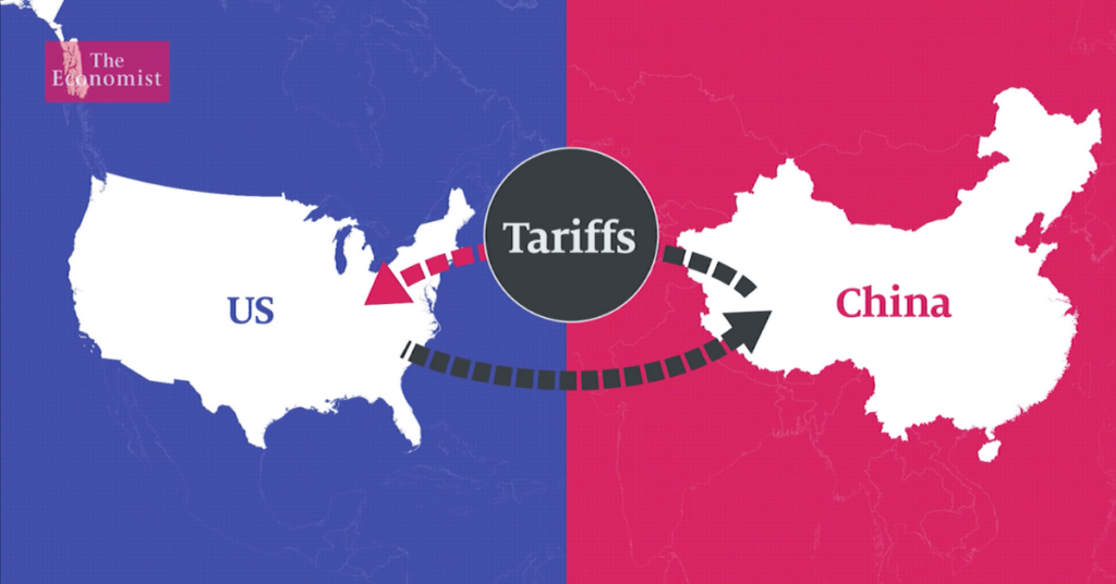 Graphic depecting the trade war with China