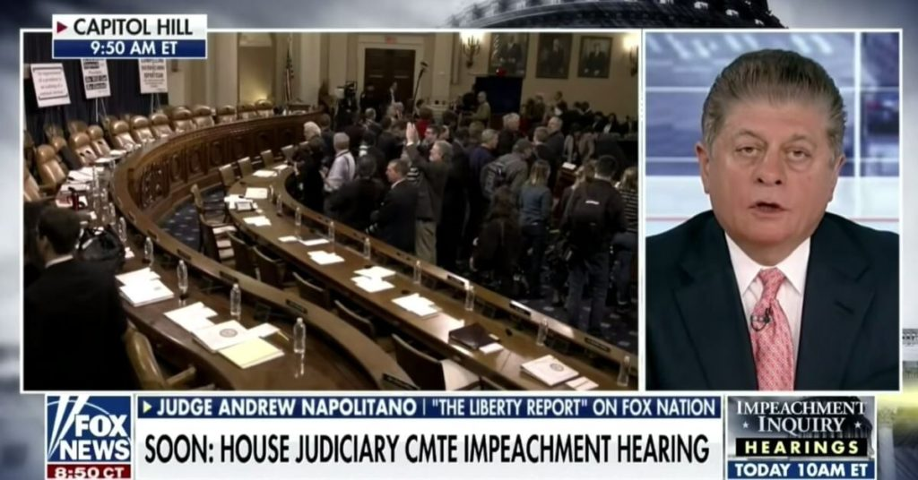 Fox News' legal expert says Democrats have 'credibly argued' for impeaching Trump