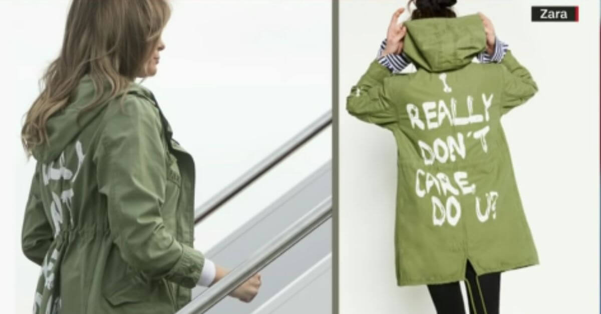 The infamous green jacket worn by FLOTUS