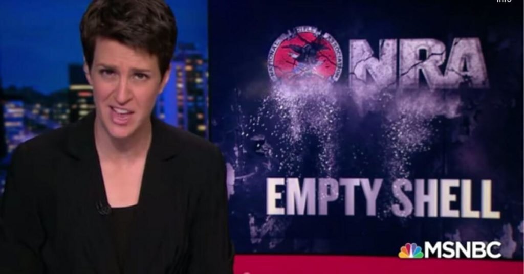 WATCH: Rachel Maddow says the NRA's collapse is the biggest under-reported story of 2019