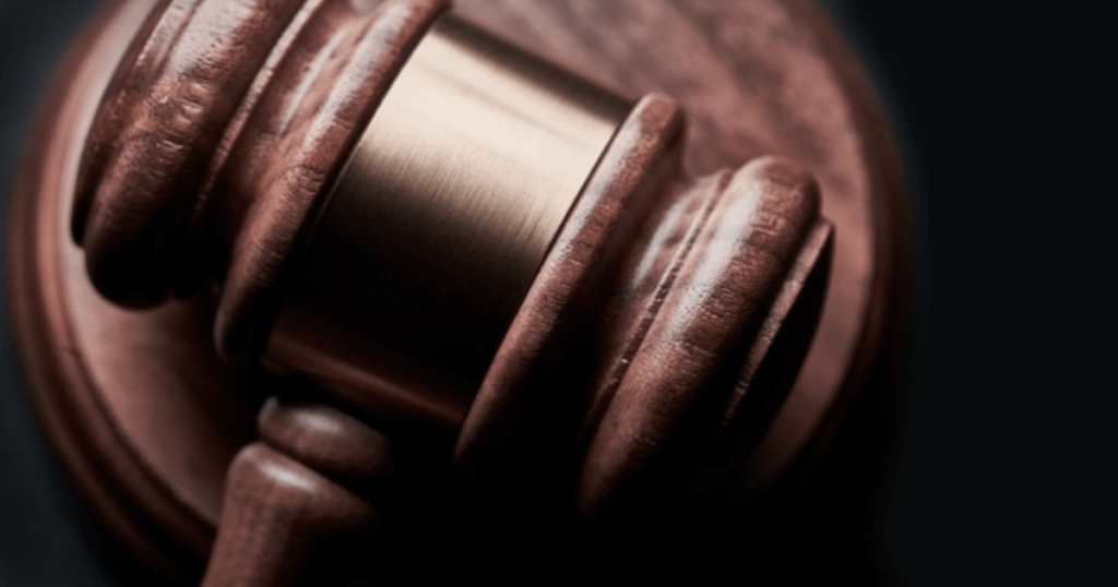 Close up photo of a gavel