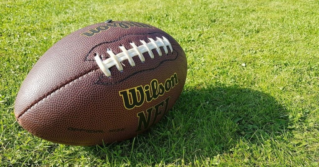 A football sitting on the grass
