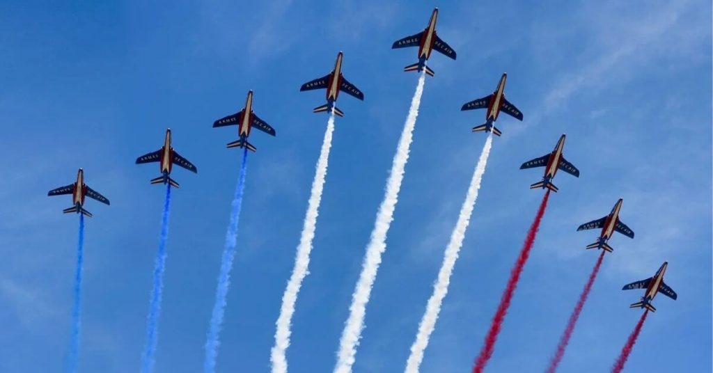 A formation of fighter jets