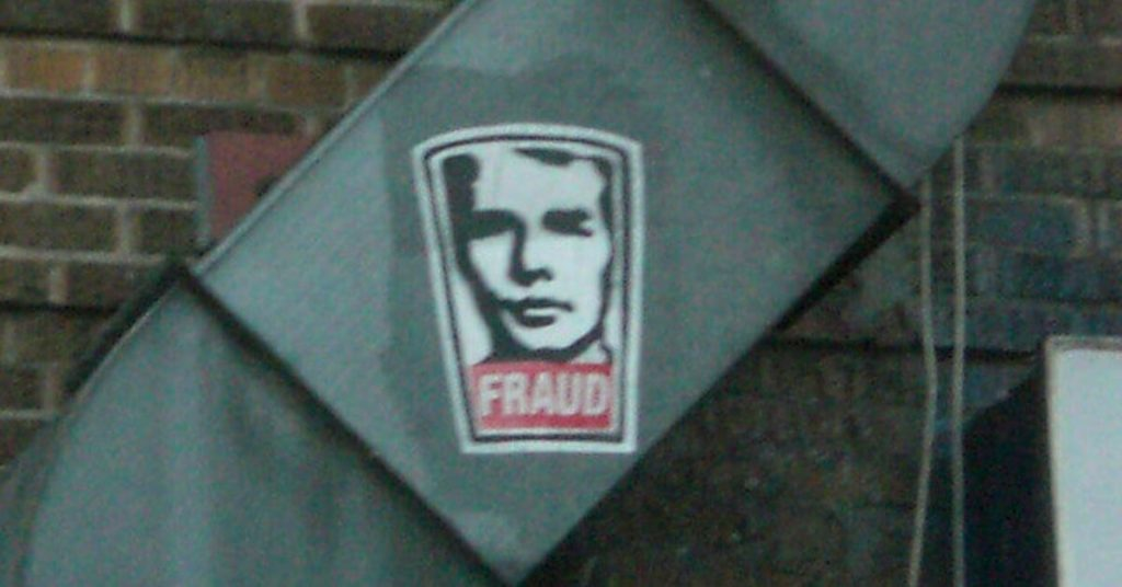 "Sticker that says ""fraud"" on a HVAC system"