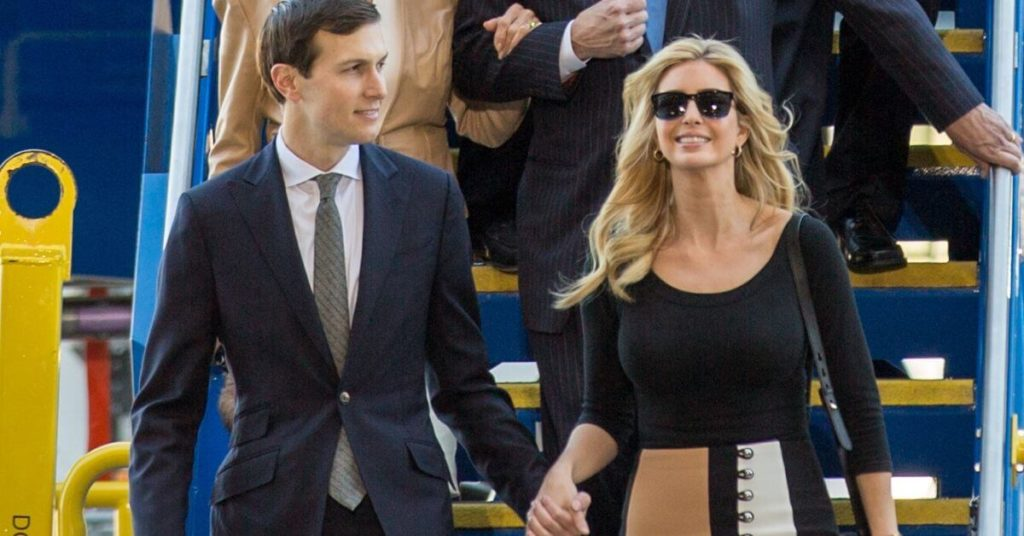 Jared and Ivanka exiting a plane