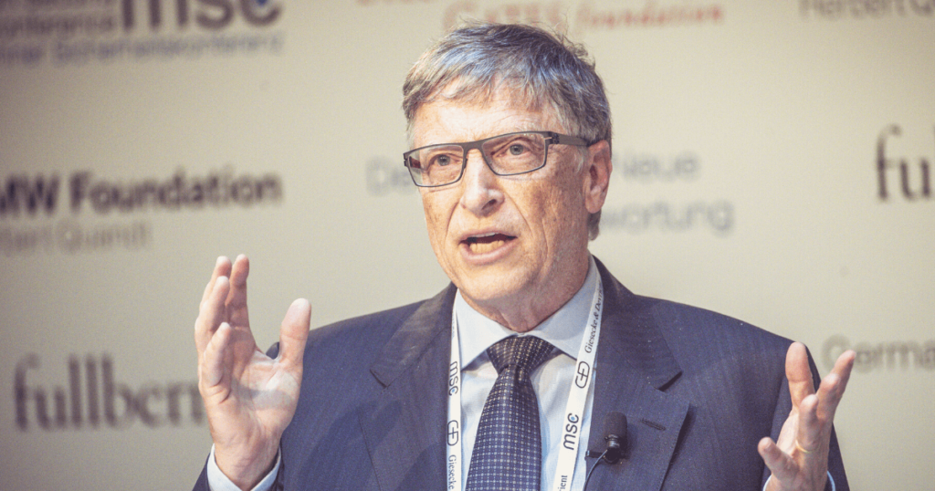 Bill gates speaking at an event