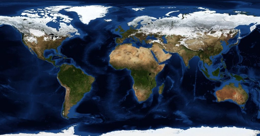 NASA Map of EARTH from space
