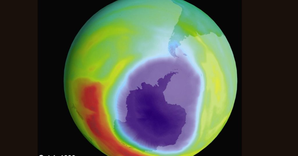 Planet with heat map overlay