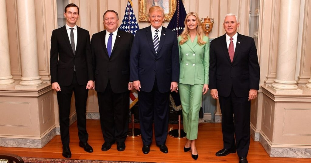 Trump admin officials standing in a row