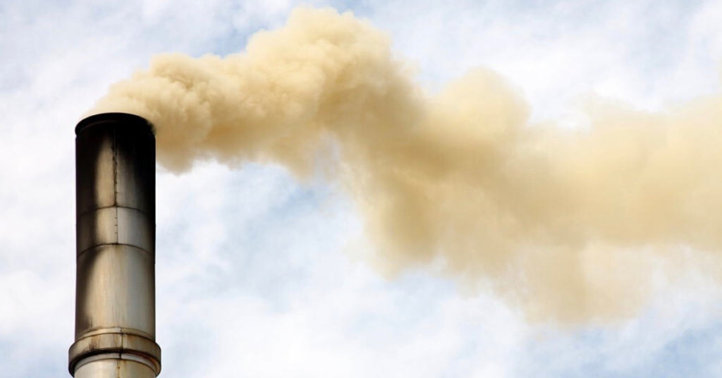 A smock stack spewing pollution