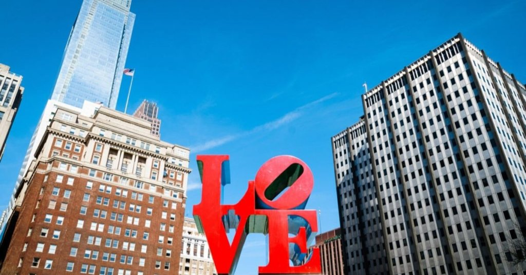 Philly's iconic John F. Kennedy Plaza Love Park Image