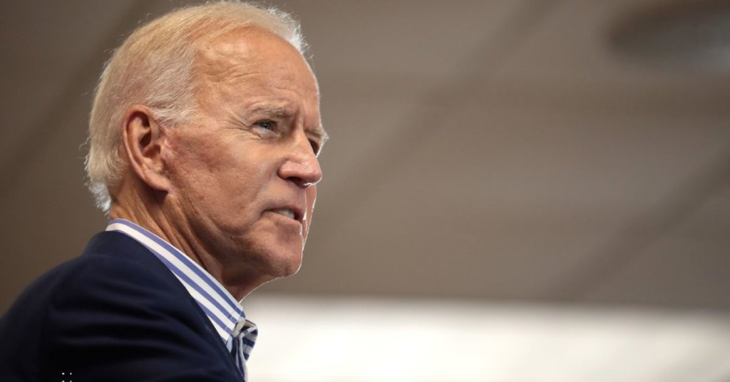 Profile shot of Biden