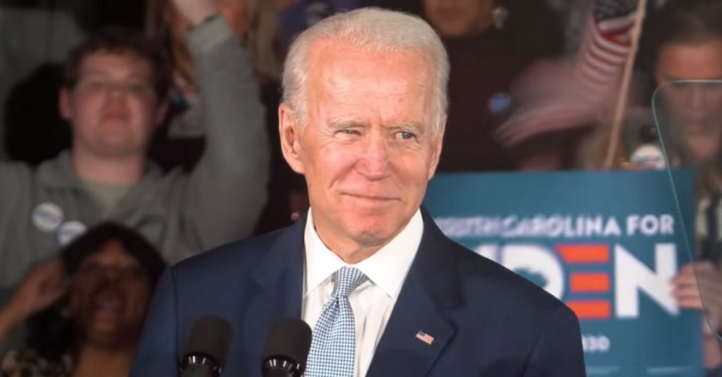 Joe Biden at a rally