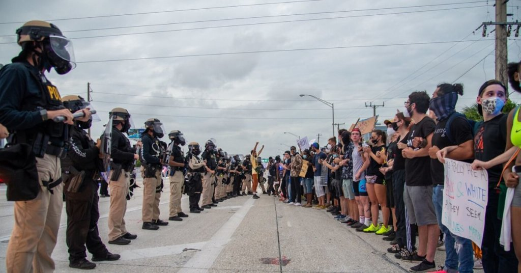 Militarized police response escalates already-tense protest situations, activists say