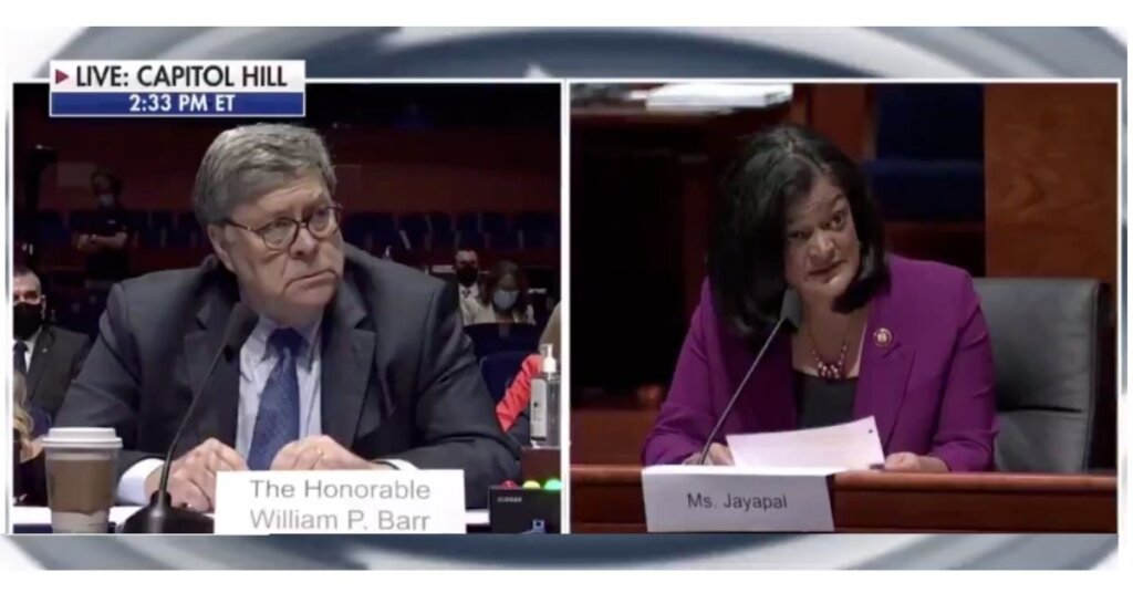 'This is how it's done': Must-watch TV as Jayapal tears into William Barr at judiciary hearing