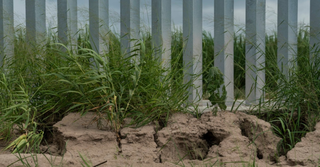 Trump built a privately funded border wall. It's already at risk of falling down. 3