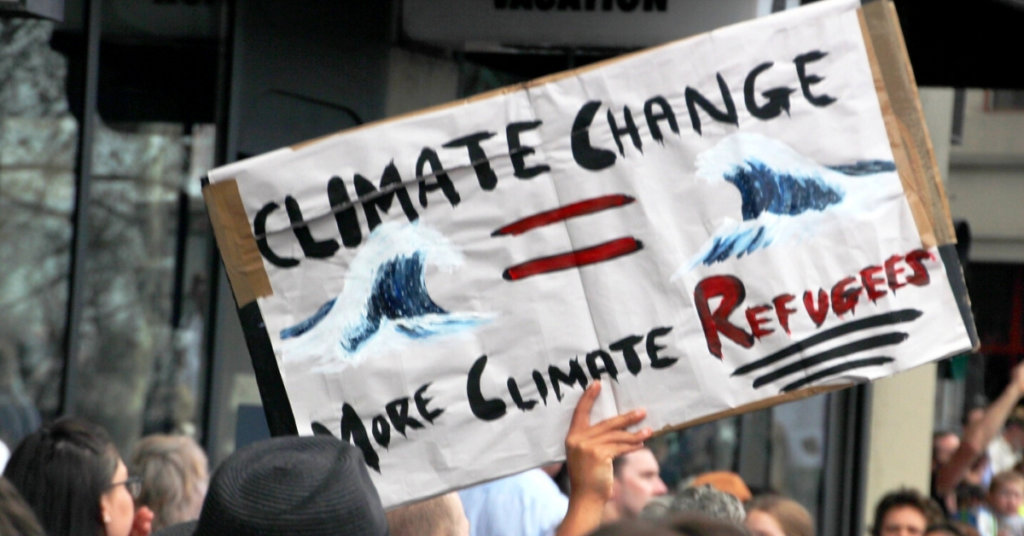 Climate protestors at a march