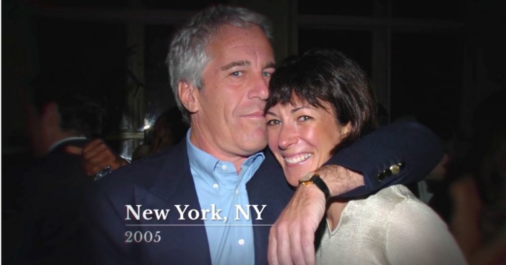 A photograph of Jeffrey Epstein and fellow sexual predator Ghislaine Maxwell.