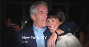 descriptive image of Ghislaine Maxwell and Jeffrey Epstein