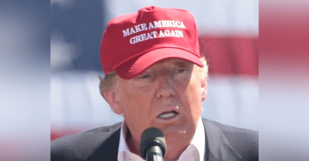 Trump in a MAGA hat