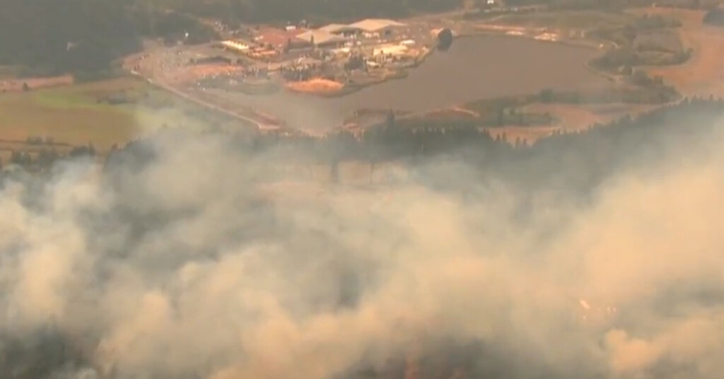 Wildfires are raging across Oregon.