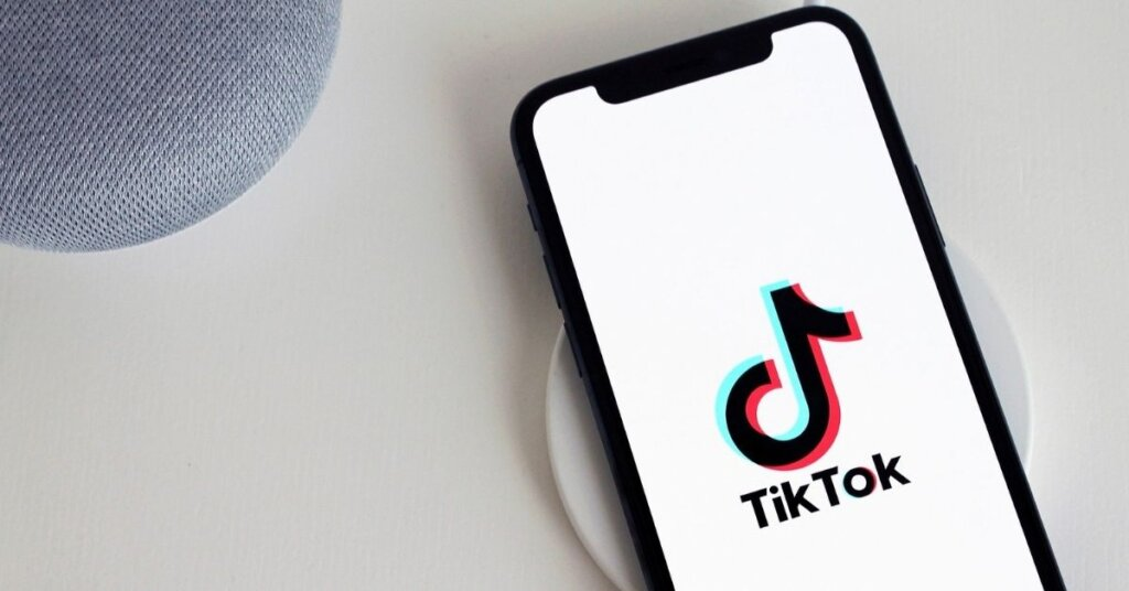 Phone with TikTok on the screen