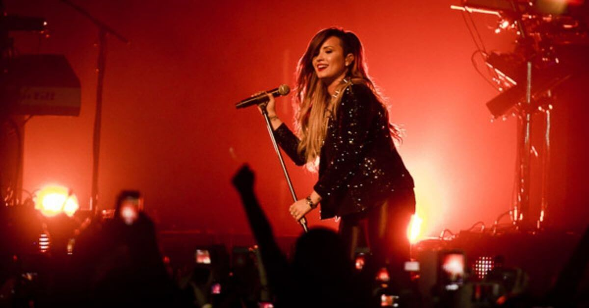 Demi Lovato performing on stage