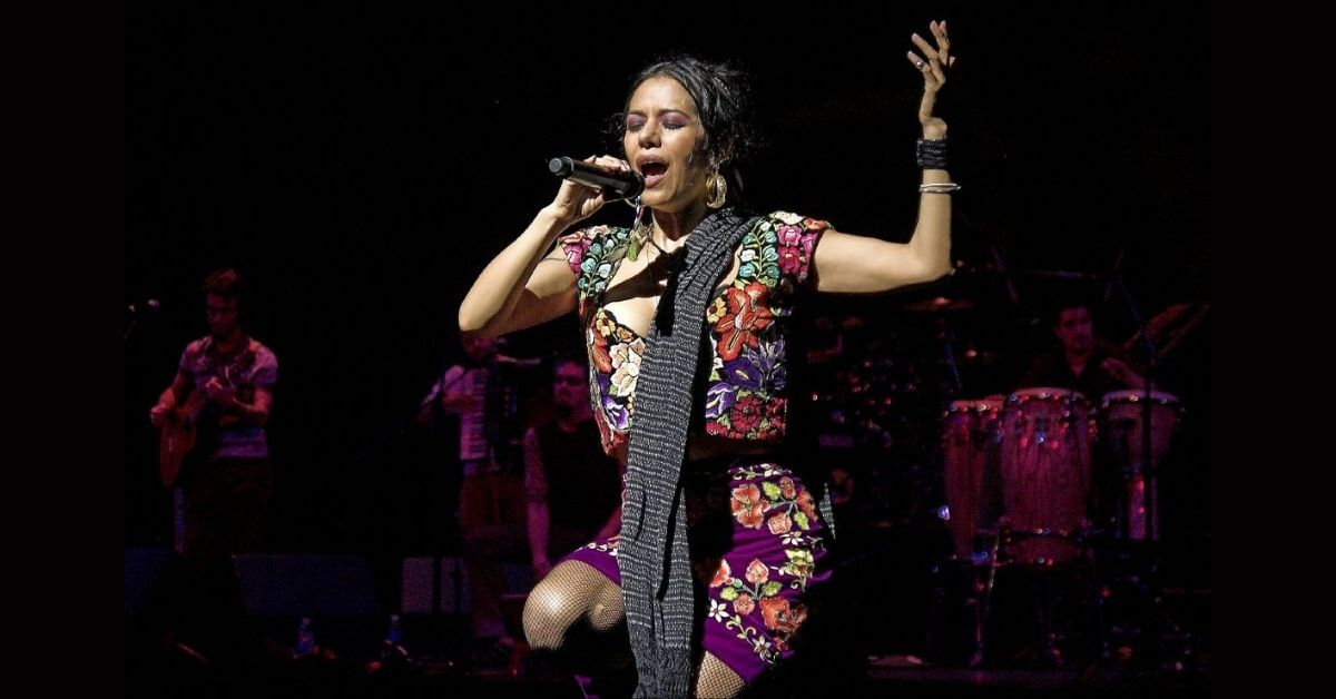 Lila Downs performing on stage