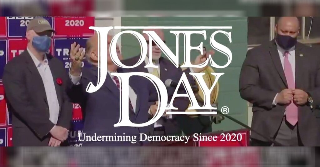 "Screenshot from the MeidasTouch ""Jones Day"" video"