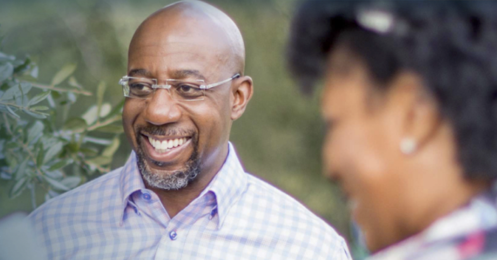 The Reverend Dr Raphael Warnock gets ready for the Georgia election runoff.
