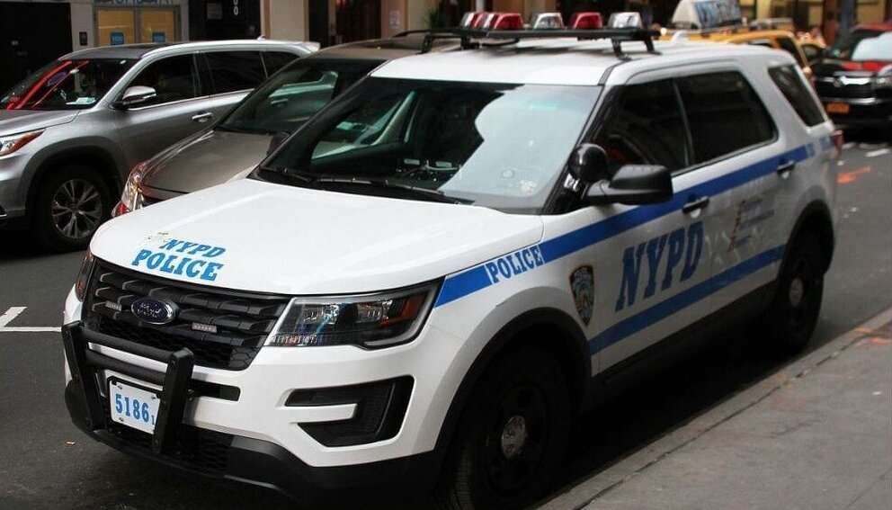 NYPD vehicle parked in NYC