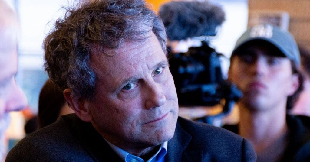 Sherrod Brown giving a look