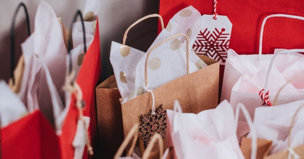 Several gift bags