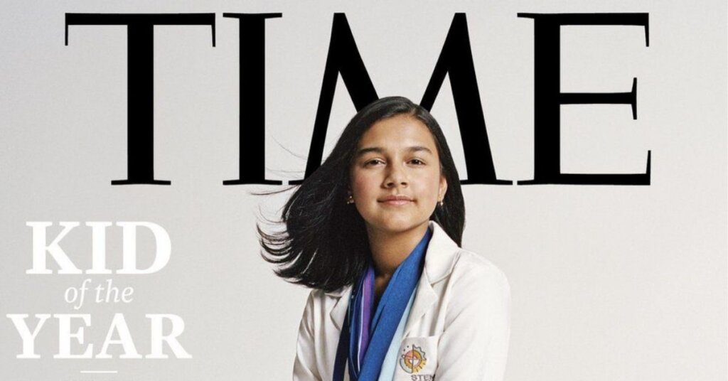 Gitanjali Rao on the cover of Time