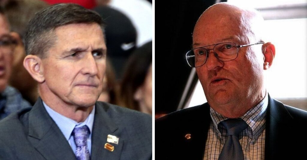 Side by side photos of Michael Flynn and Colonol Wilkerson
