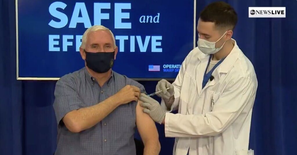 Mike Pence getting his COVID vaccination