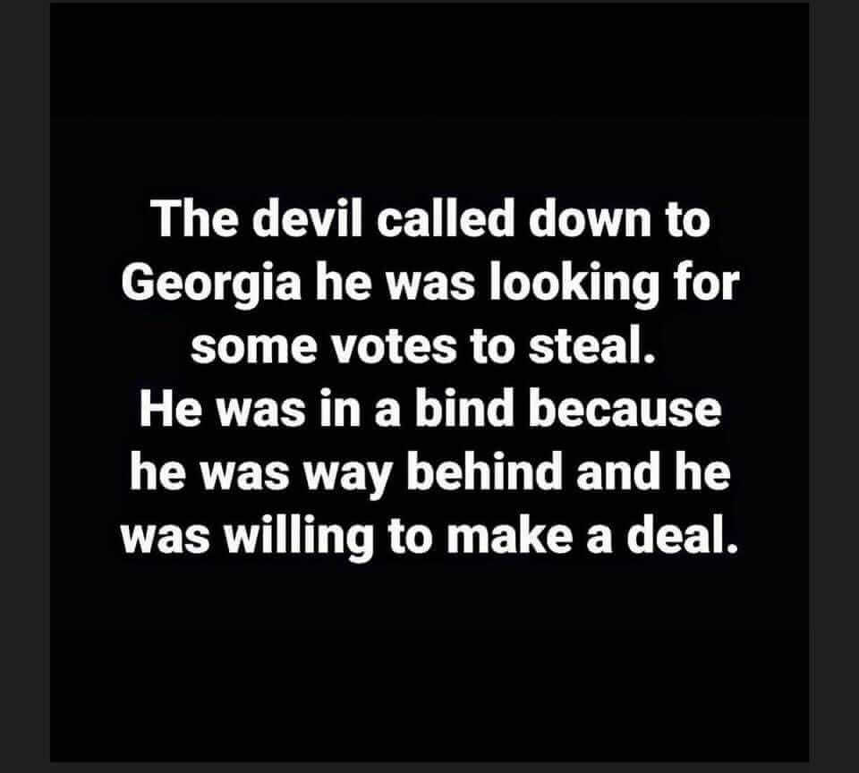 Devil went down to GA