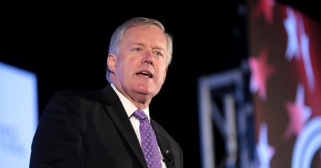 Mark Meadows speaking at an event